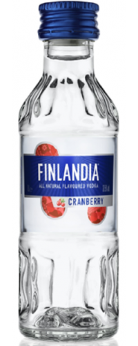 Водка Финляндия (Finlandia) Клюква белая 37.5% 0,05л