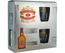 Виски Chivas Regal 12 лет 0,7л в коробке с двумя стаканами