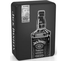 Виски Jack Daniel's 0,7л c 2-мя бокалами в металлической коробке
