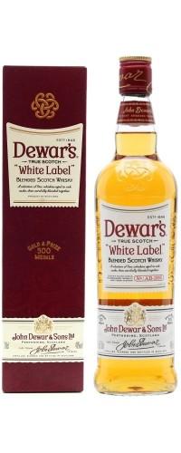 Виски Dewar's (Дьюарс) Вайт Лэйбл в подарочной упаковке 1л