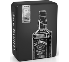 Jack Daniel's Old No.7 Whiskey 0,7L with 2 glasses in metal box (5099873045855)