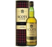 Виски Scots Lion в тубусе 1.0 л