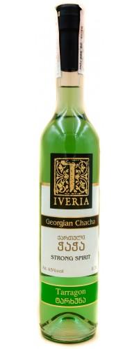 Чача Iveria Tarragon(Ивериа Тархун) 0.5л 45%