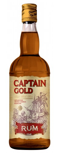 Ром Captain Gold 38% 0,7л