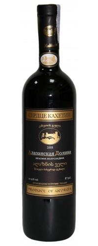 Вино Сердце Кахетии Алазанская Долина красное полусладкое 0.75 л 11.5%