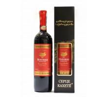 Вино Сердце Кахетии Мукузани красное сухое 0.75 л 12%