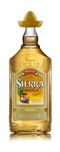 Текила Sierra Reposado Gold миниатюрка 0,04л