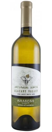Вино белое полусладкое Khareba Алазанская Долина