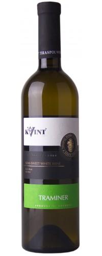 Вино Kvint Traminer Трамиинер полусладкое белое
