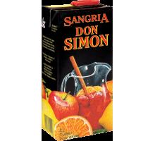 Вино ароматизированное Don Simon Sangria красное сладкое 1л (тетрабрик)