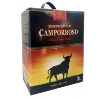 Вино красное сухое Кампорросо Темпранильо 3 л