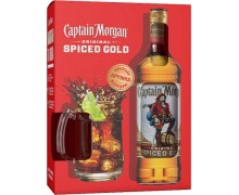 Ром Captain Morgan Spiced Gold 35% 0,7л + кружка