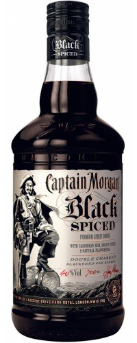 Ром Captain Morgan, Black Spiced, Капитан Морган, Блэк Спайсед, 0.7л 40% (5000281033273)