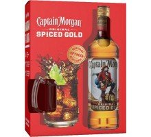 Ром Captain Morgan Spiced Gold 0.7л + кружка (8680325258274)