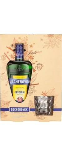 Ликер Becherovka Бехеровка + бокал 0,7л