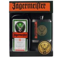 Ликер Jagermeister 35% 0.7л + Фляга