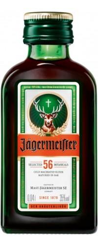 Ликер Jagermeister (Егермейстер) 35% 0.04л