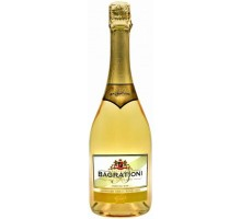 Вино игристое Bagrationi золотое полусладкое 12% 0,75л