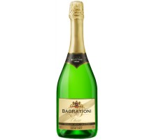 Вино игристое Bagrationi классическое белое полусухое 12% 0,75л