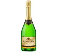 Вино игристое Bagrationi классическое белое полусладкое 12% 0,75л