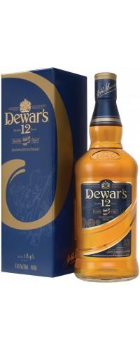 Виски Дьюарс (Dewar's) 12-летний в подарочной коробке 1.0л