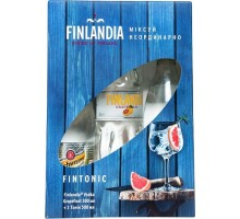 Водка Финляндия Грейпфрут 0,5л + Швепс 0,5л х 2