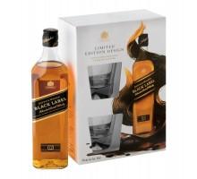 Виски Black Label 0,7л с 2-мя стаканами в коробке