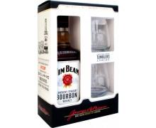 Виски Jim Beam 0,7л + 2 бокала
