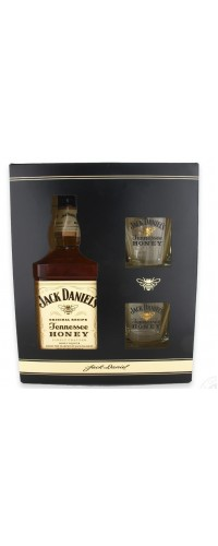 Виски Jack Daniel's Тенесси Хани с бокалами  0,7л