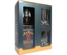 Виски Jim Beam Double Oak 43% + 2 бокала 0.7л