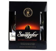 Виски Old Smuggler 0,7л + 2 стакана в коробке