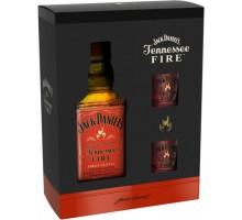 Виски-Ликер Jack Daniel's Tennessee Fire +2 рюмки 35% 0,7л