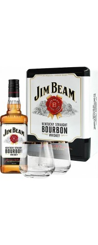 Виски Jim Beam мет. коробка (Джим Бим) 0.7л