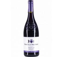 """Вино """"Барон д'Ариньяк"""" Мерло красное полусладкое 0,75л"""