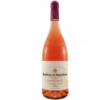 "Вино ""Барон д'Ариньяк"" Сира (Шираз) розовое сухое 0,75л"