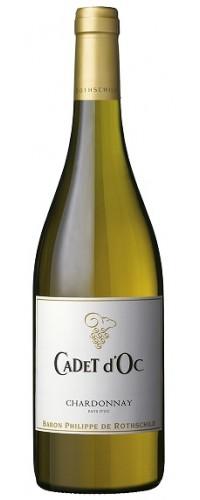 Вино CADET d`Oc Chardonnay (Каде д`Ок Шардоне) белое сухое 0,75л