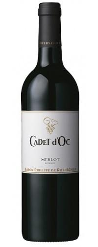 Вино CADET d`Oc Merlot (Каде д`Ок Мерло) красное сухое 0,75л