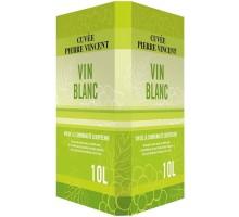 Вино белое сухое Cuvee Pierre Vincent Vin Blanc бег 10л