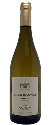 Вино Jean Loron Chardonnay (Жан Лорон Шардоне) белое сухое 0,75л