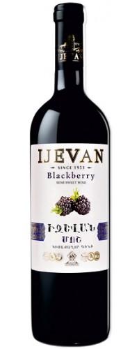 Вино красное полусладкое jevan (Иджеван) Ежевика