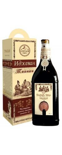 Вино красное сухое jevan (Иджеван) Тнакан 3л