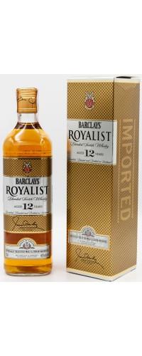 Виски Barclays Royalist Роялист 12YO 40% 0,7л